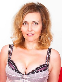 busty; lingerie; milf; redhead; solo; stockings; toys;