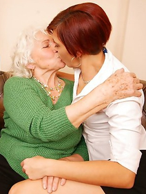 blonde women; group sex; lesbians; old and young; redhead; threesome;