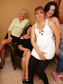 blonde women; group sex; lesbians; old and young; tattooed;