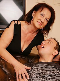 couple; grannies; old and young; pantyhose; toys;