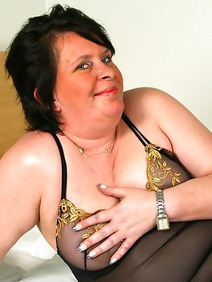brunette; chubby; lingerie; solo;