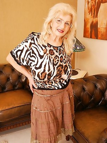 blonde women; grannies; pantyhose; solo;