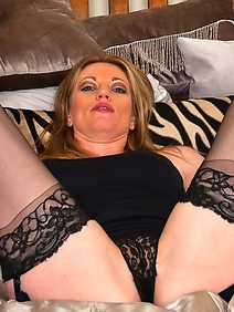 blonde women; couple; fucking; milf; old and young; redhead; stockings;