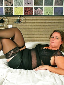 chubby; dutch women; solo; stockings; toys;