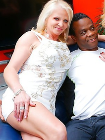 bisexuals; blonde women; housewives; interracial; stockings; threesome;