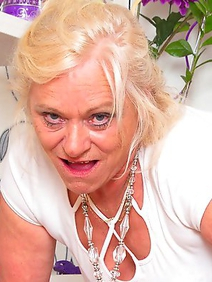 blonde women; grannies; solo; stockings; toys;