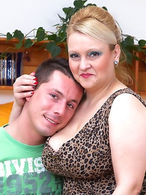 blonde women; busty; chubby; couple; housewives; stockings; toys;