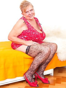 blonde women; busty; chubby; grannies; solo; stockings;