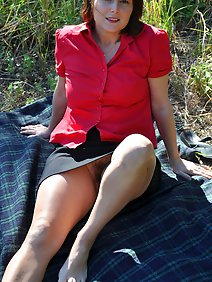 busty; chubby; legs; outdoors; upskirt;