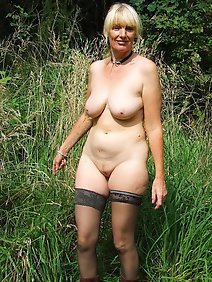 amateur; busty; chubby; nude; outdoors;