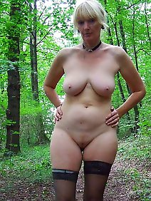 amateur; busty; chubby; nude; outdoors;