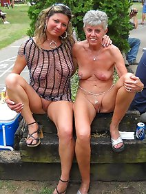 amateur; busty; chubby; nude; outdoors; public;