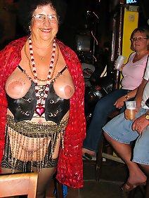 amateur; busty; chubby; flashing; outdoors; public;