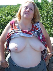 busty; chubby; flashing; grannies; outdoors; public;