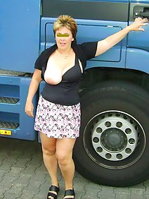 busty; car; chubby; flashing; nude; outdoors; public;